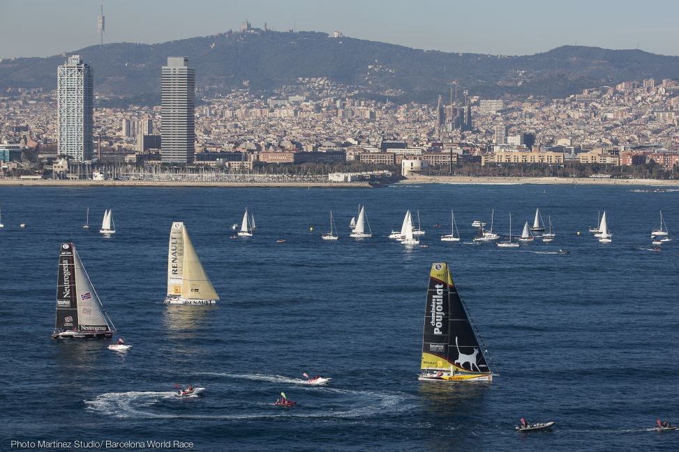 Brand new GPS Compass running the Barcelona World Race !