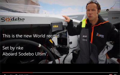 Le pilote nke bat le record des 24h en solitaire sur Sodebo Ultim